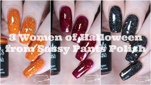 """Women of Halloween Trio""  By Sloppy Swatches"