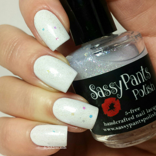 """""""Good Witch"""" Holiday '15 """"Wizard of Oz"""" Collection  Swatch by Delicious Nails shown over a white polish"""