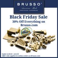 Brusso Hardware Sale- 30% Off Everything on Brusso.com