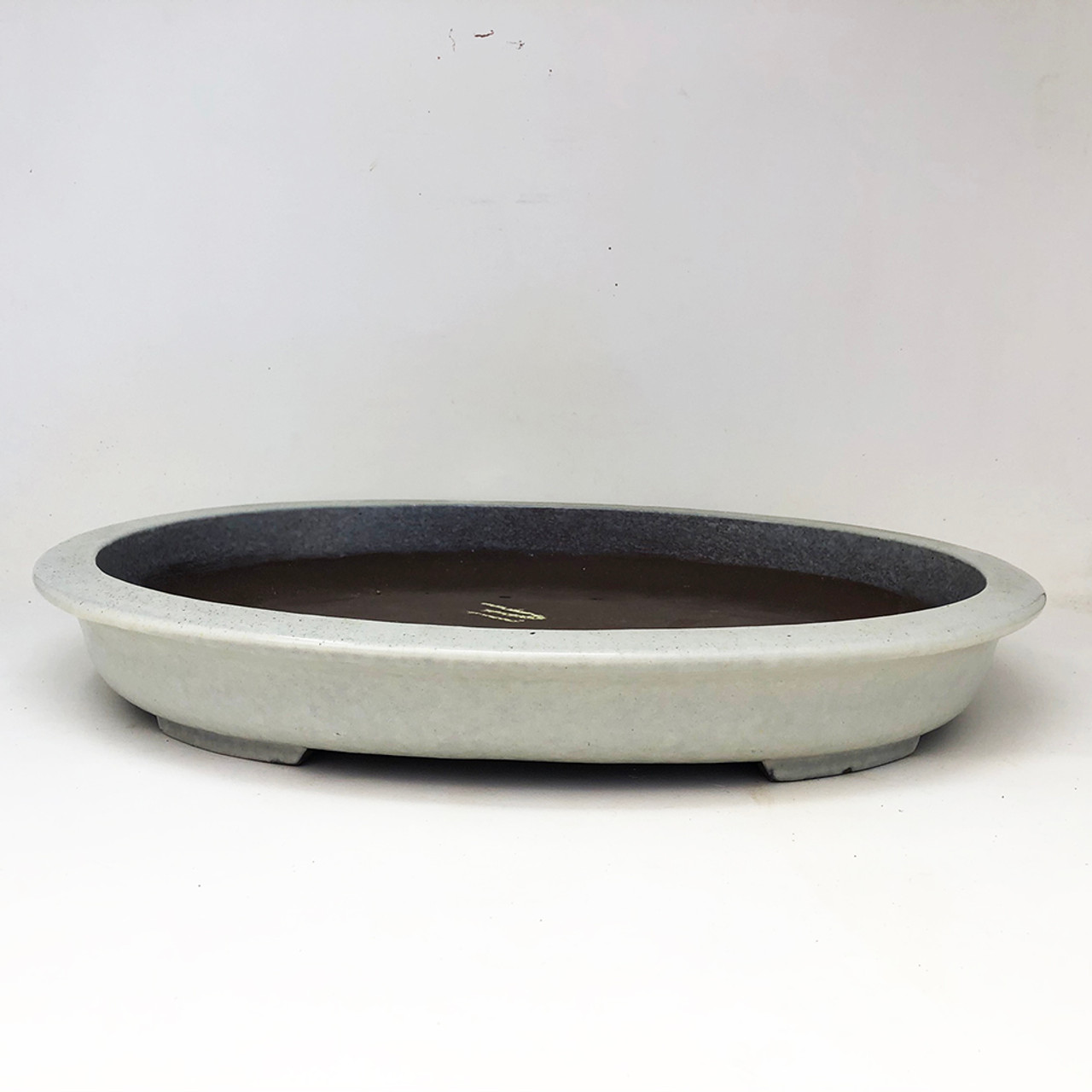 Large Vintage Cream Glazed Oval Bonsai Pot Bonsai Outlet Yx975