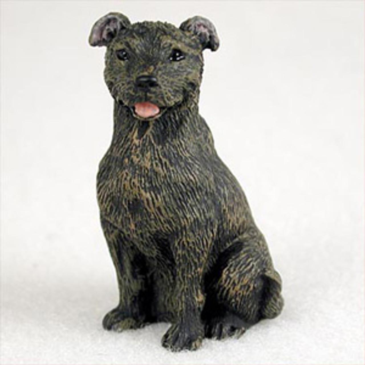 Staffordshire Bull Terrier Brindle Bonsai Tree Figurine