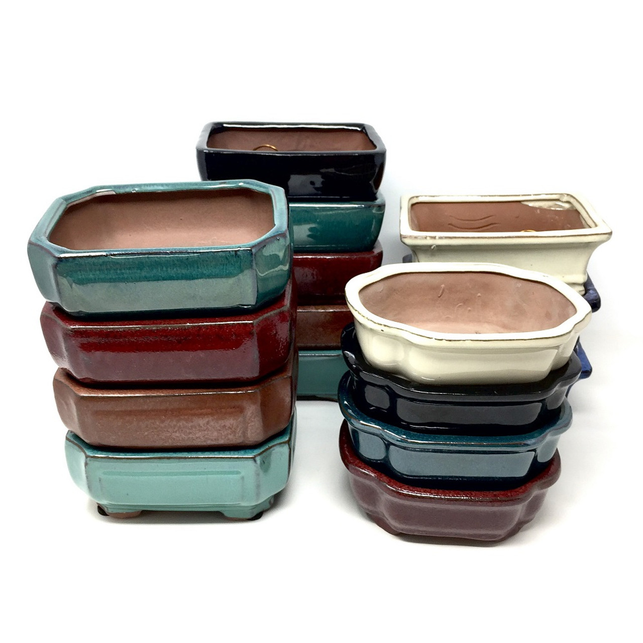 8 Glazed Ceramic Bonsai Pots Choose Style Bonsai Outlet