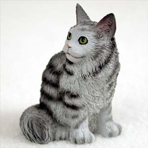 Brown Tabby Maine Coon Cat Figurine| bonsaioutlet com