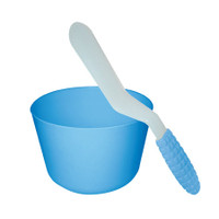 Alginate spatula, blue handle, plastic