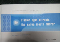 Mouth mirrors with suction hose (50pcs) Fission type attracts the saliva mouth mirror