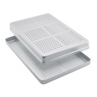 Aluminum Standard Maxi Instrument perforated tray 18x28cm