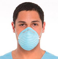 Safe+ Mask® Cone Face Mask, 50pcs blue