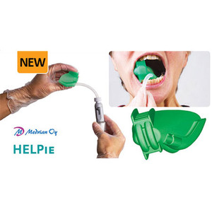 HELPIE - Combines biteblock, tongue deflector & suction all-in-one (10pk : 5 left + 5 right)