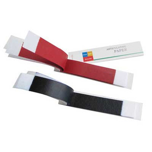 Articulating paper red/blue thick, 100 micron (0.1mm), 12 books x 20 sheets