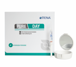 Pure Day : whitening Home Kit - 6% Hydrogen Peroxide (4 syringes bleach, 1 desensitizing gel, 2 thermoforming, 1 tray box)