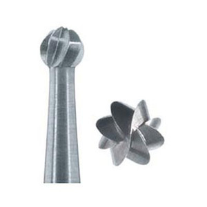 ELA Steel burs 1 - Round/Rose head, 6pcs RA-031