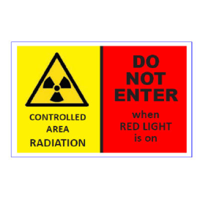 Warning signs Aluminium - xRay (controlled are radiation)