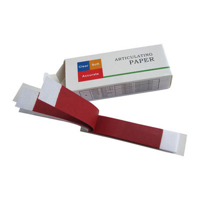 Articulating paper red thin, 30 micron (0.03mm), 10 books x 40 sheets