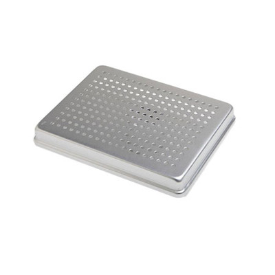 Aluminum Midi Instrument tray perforated cover 14x18cm