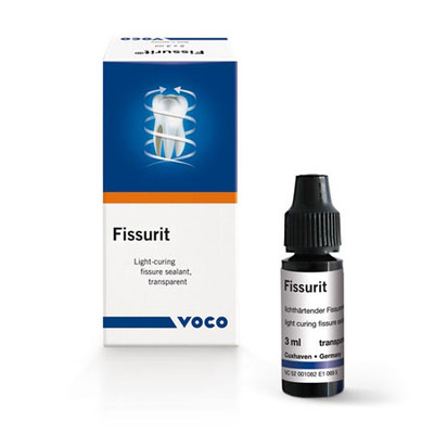 Fissurit F - Light curing fissure sealant with fluorides, white (Bottle 2 × 3 ml)