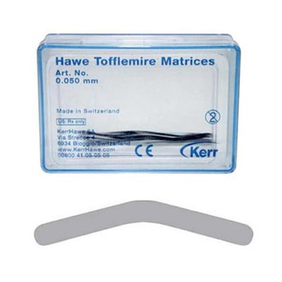 HAWE Tofflemire matrix bands No.1 (0.038mm) 30pk