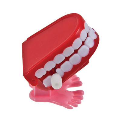 Children toy - Wind up jumping teeth