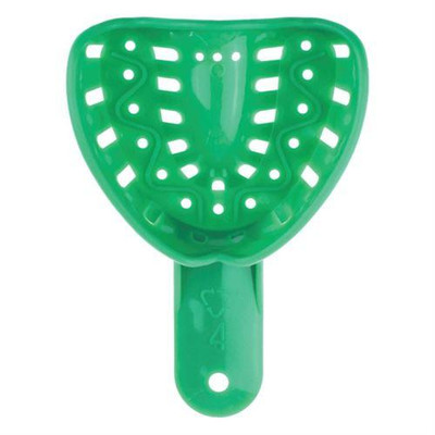 Ortho impression tray, Medium Upper, 12pk green