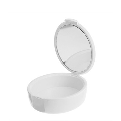 Retainer boxes with mirror - 1pc white