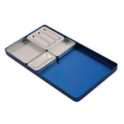 Aluminium instrument tray insert No.3 (59x49x10mm)