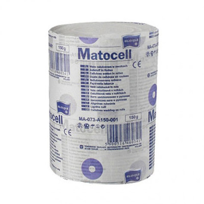 MATOCELL Cellulose wadding pads on roll, 150g
