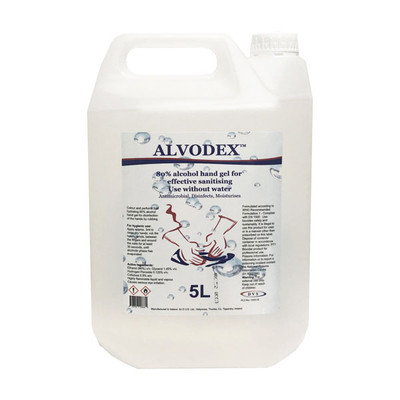 Hand Sanitiser Gel 80% alcohol - 5L refill