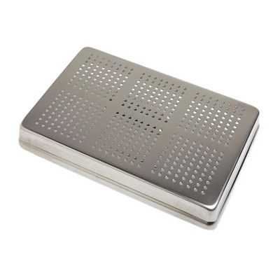 Aluminum Standard Maxi Instrument perforated tray cover 18x28cm