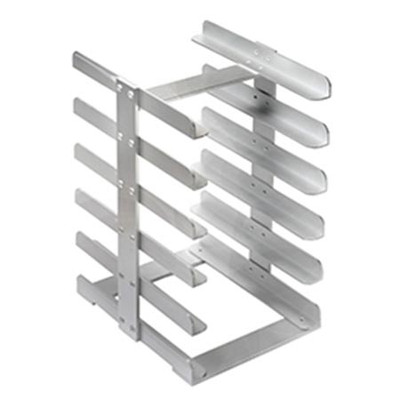 Aluminium Midi tray storage rack, hold tray size 14x18cm