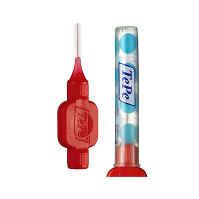 TePe Interdental brushes - 0.5mm (clinic pack) 25pcs red