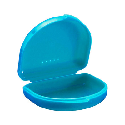 Ortho Retainer boxes #1 (A01) - 10pcs blue, 74x64x28mm