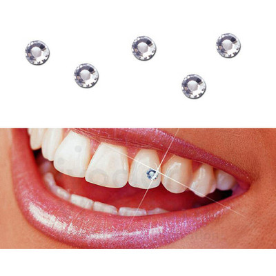 Skyce Tooth Jewellery - 5pcs crystal 1.8mm