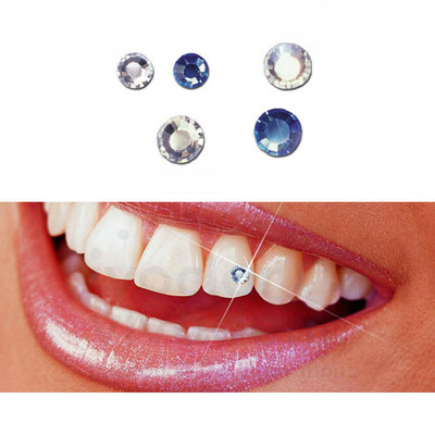 Skyce Tooth Jewellery - 5pcs assorted crystal & sapphire blue (1.8mm & 2.5mm)