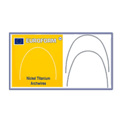 "Euroform® Super Elastic Nickel Titanium Archwires (10pcs) .017"" x .025"" Lower"