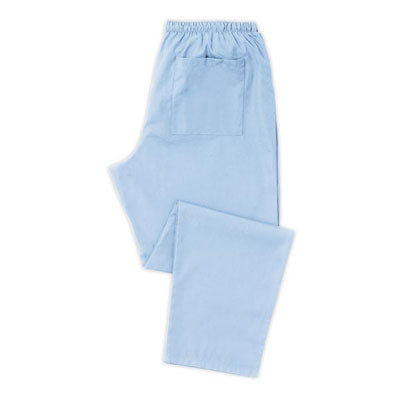 Scrub Trousers (D398) Unisex, pale blue - Unhemmed 38 inches - Size Medium