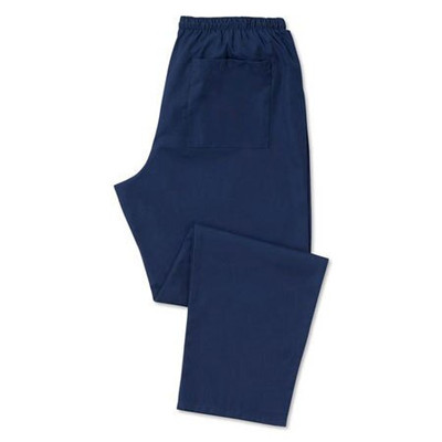 Scrub Trousers (D398) Unisex, Navy blue - Unhemmed 38 inches - Medium