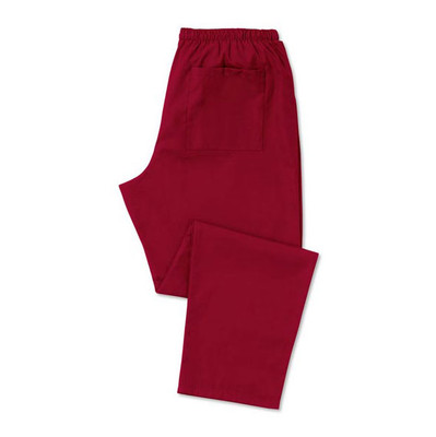 Scrub Trousers Unisex (D398) Burgundy - Short length 29 inches - Size Small