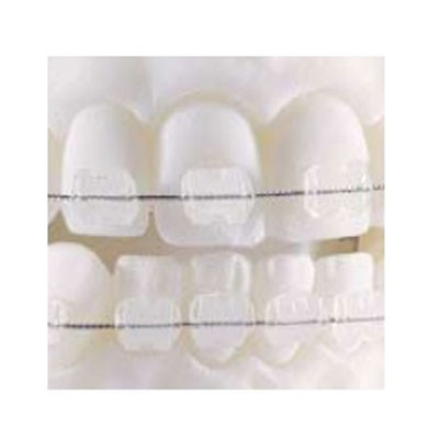 Fascination® Ceramic Aesthetic Brackets, Upper Central Left (+11° torque, +5° angulation) 10pcs