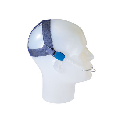 High-pull headgear with safety modules, light tension to 4.5 N (450 g)