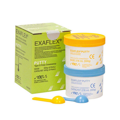 Exaflex Putty / Normal setting A-silicone impression material / 500g Base + 500g Catalyst