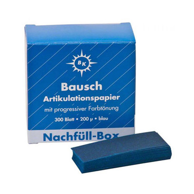 Bausch Articulating Paper Thick (200 micron) - 300pcs refill for BK-01