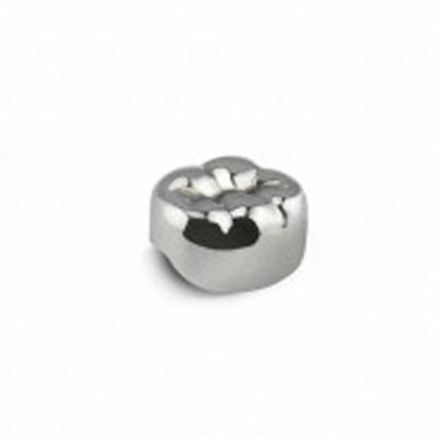 Stainless Steel 2nd Primary Molar Crowns 5pcs (ELL-5) Lower Left #5, Ø mesial/distal 10.6