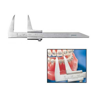 Dental vernier Beerendonk (with long and fine tips, for intraoral measurements) autoclavable