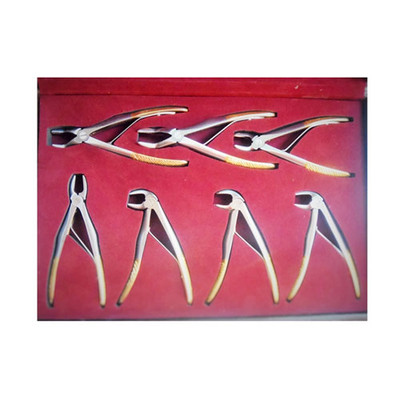 Children Extracting forceps, diamond coated, full kit (7pcs, 1 of each size #3, 5, 6, 7, 51A, 137, 139)