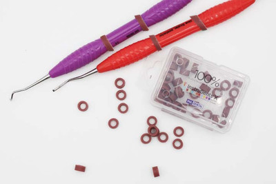 Silicone Colour Code Rings Small (7008) 50pcs brown