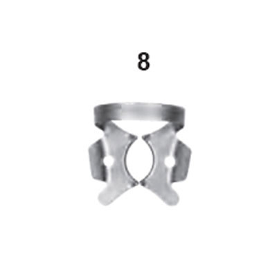 Rubber dam clamp Winged #8 - Upper molar