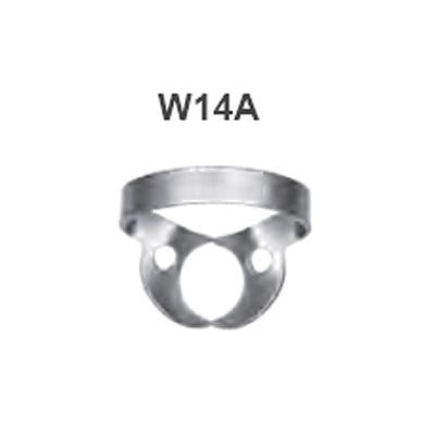 Rubber dam clamp Winged #W14A - Large universal molar