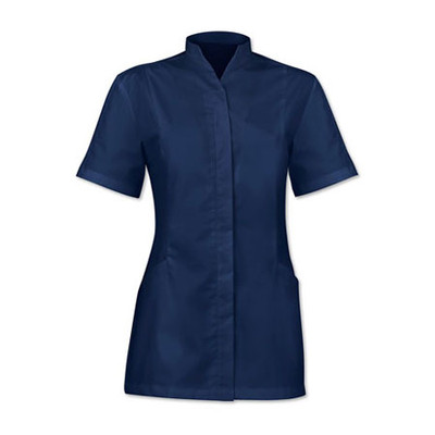 Women's concealed button tunic (2251) navy - Size 26 (Chest 120cm)