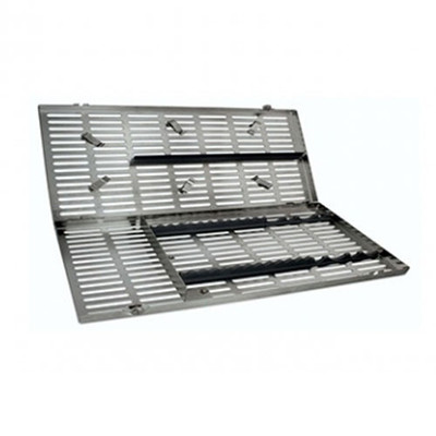 Sterilization Cassette with clips (205 x 370mm) Large