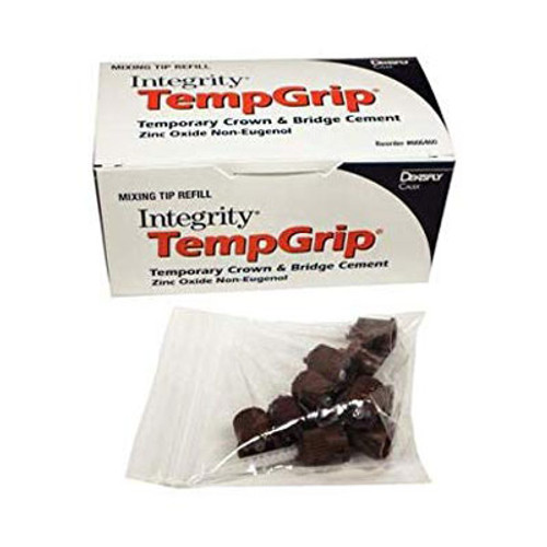 Integrity TempGrip Mixing Tips Refill (666460) 50pk brown tapered