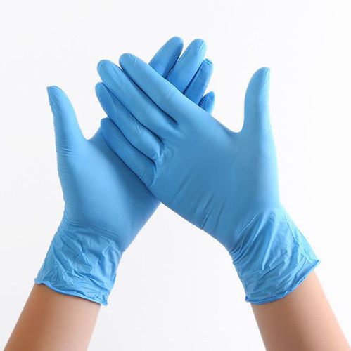 Nitrile Examination Gloves Powder Free (Box of 100 gloves, blue) Extra-Small